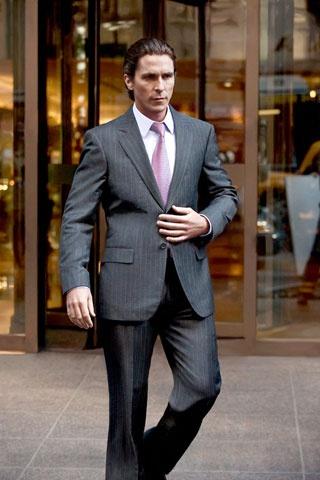 Christian Bale's Dark Knight Rises Armani suits