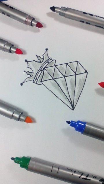 Desenho de diamante... Visite nos no YOUTUBE - Desenho-Loko