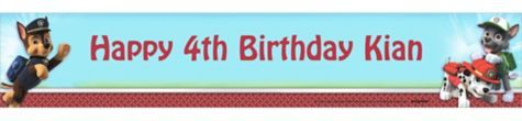 Custom Paw Patrol Banner 6ft - Party City