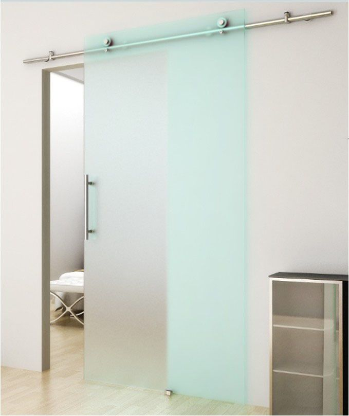 Env o gratis vidrio de acero inoxidable correderas for Herrajes para puertas