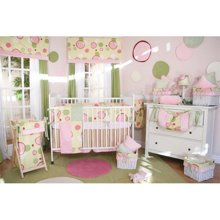 Brandee Danielle Bubbles Pink Fitted Crib Sheet 171shbp