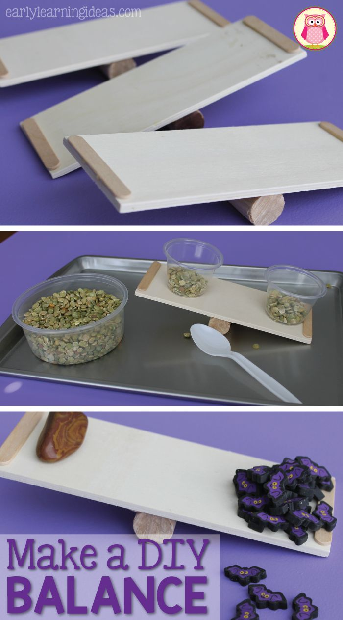 Make a DIY balance with a few simple materials from the craft store. The balances are great for math and science learning centers in preschool and pre-k classrooms. Use them in sensory bins too. A great way to explore the concept of weight in early childhood.