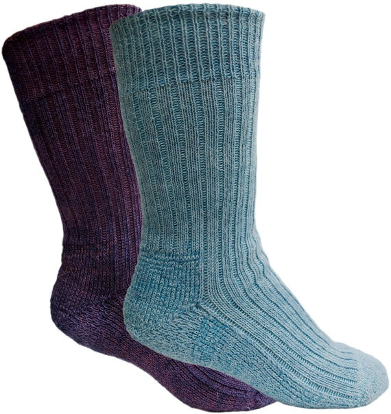 Naturally Dyed Socks  Two Pairs Royal Purple and by Shilasdair, $26.50