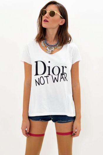 e-outfit - Dior not War t-shirt