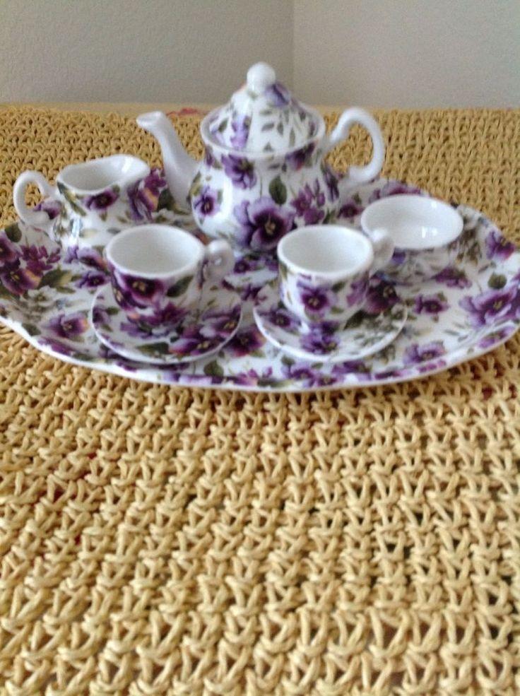 Vintage Shelly Ann Collection Fine Bone China Miniature Tea Set