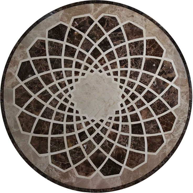 Waterjet Mosaic Medallion | Marble Tile | Ideal for your Floors - Mosaic Rug
