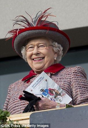 The Queen was spotted enjoying a day at the races at Ascot this afternoon.......WHEN SHE GOES TO HEAVEN, SHE'LL BE THE HEAD STABLE MISTRESS.........ccp