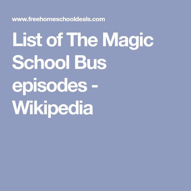 List of The Magic School Bus episodes - Wikipedia