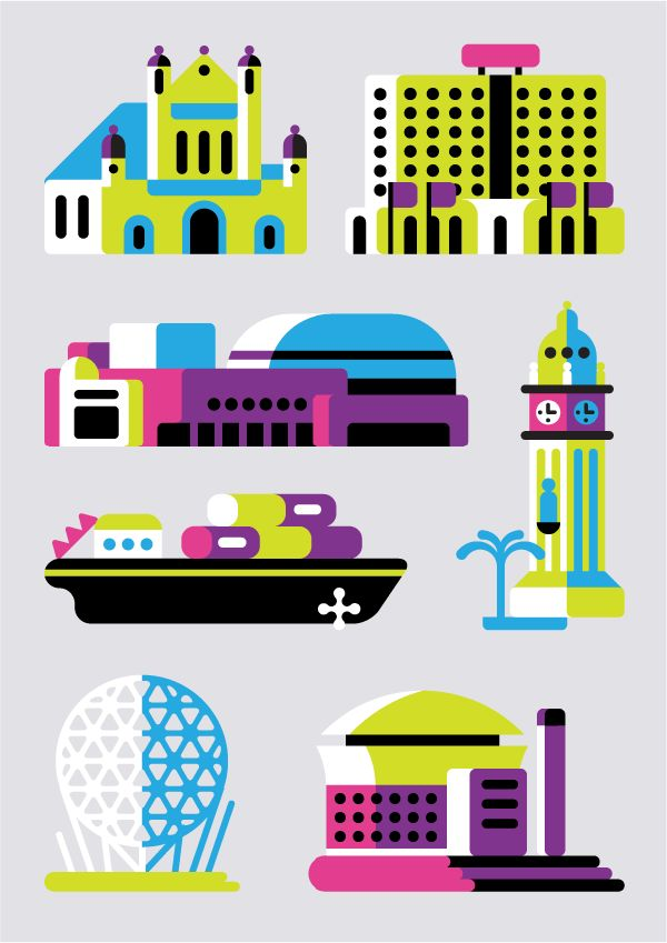 Flat Icons / Flat Design / Icons Design / Icons / Pictograms / Signs / MTV's European Music Awards in Belfast1