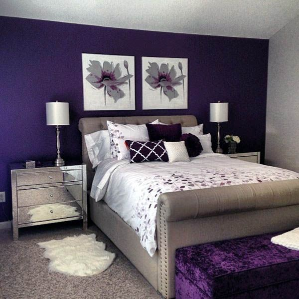 Bedroom Renovation Design Ideas Inspiring Bedroom Design And Purple Wall Decoration Ideas With Purple Bedroom Decor Contemporary Bedroom Design Purple Bedrooms