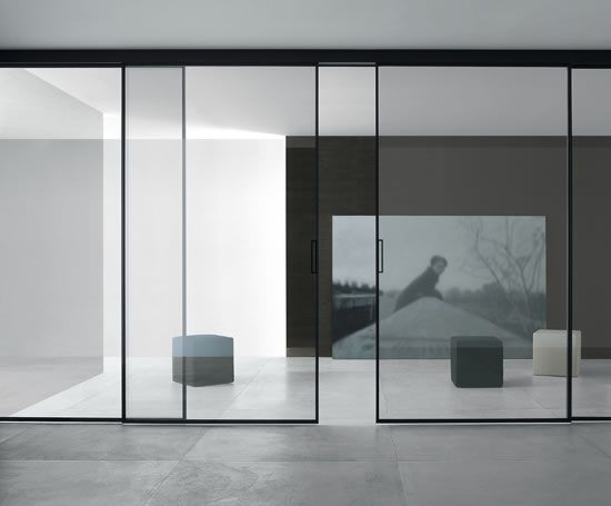 Rimadesio Velaria Glass Sliding Panels
