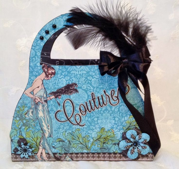 annes papercreations: G45 Couture purse box with cards - Purse Box tutorial
