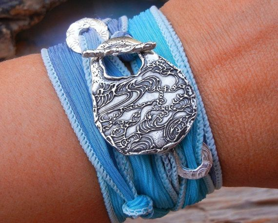 """""""This bracelet is SO beautiful. Its truly stunning in person and the shipping was super fast. This is a special gift and I can't wait to give it! My friend is going to just love it."""" #5StarReview on HappyGoLicky Sterling Silver #SilkWrapBracelet"""
