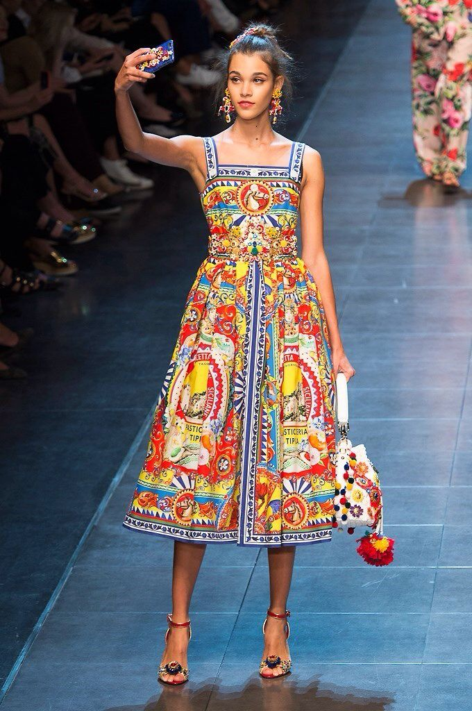 Gorgeous Sicilian Dress Pom Bucket Hand Bag By Dolce Gabbana Ss2016 Our Sicily Bags And Spread The Love Sicilybag Fashion In