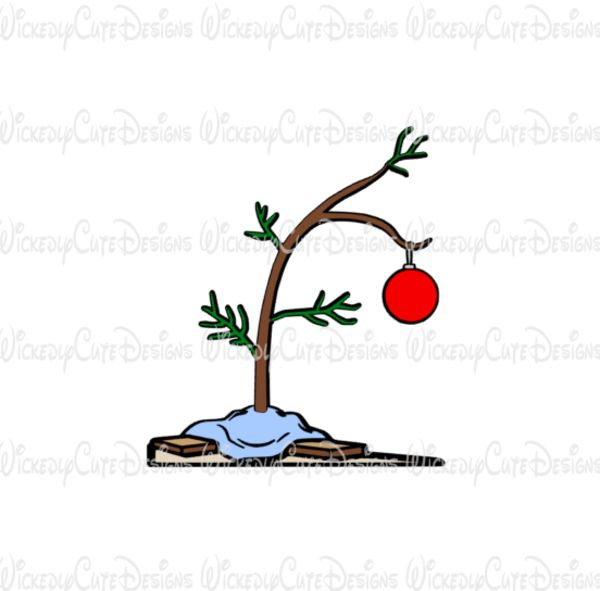 Charlie Brown Christmas Tree SVG, DXF, EPS, PNG Digital File – Wickedly Cute Designs
