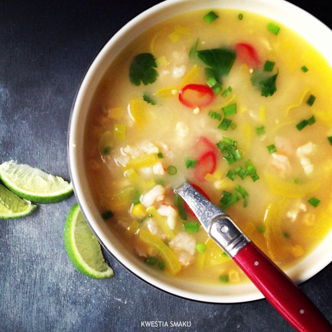 Luizjańska zupa z kukurydzą i krewetkami - Przepis * Luizjańska soup with corn and shrimp - Recipe  A must try!  #zupa #sopa