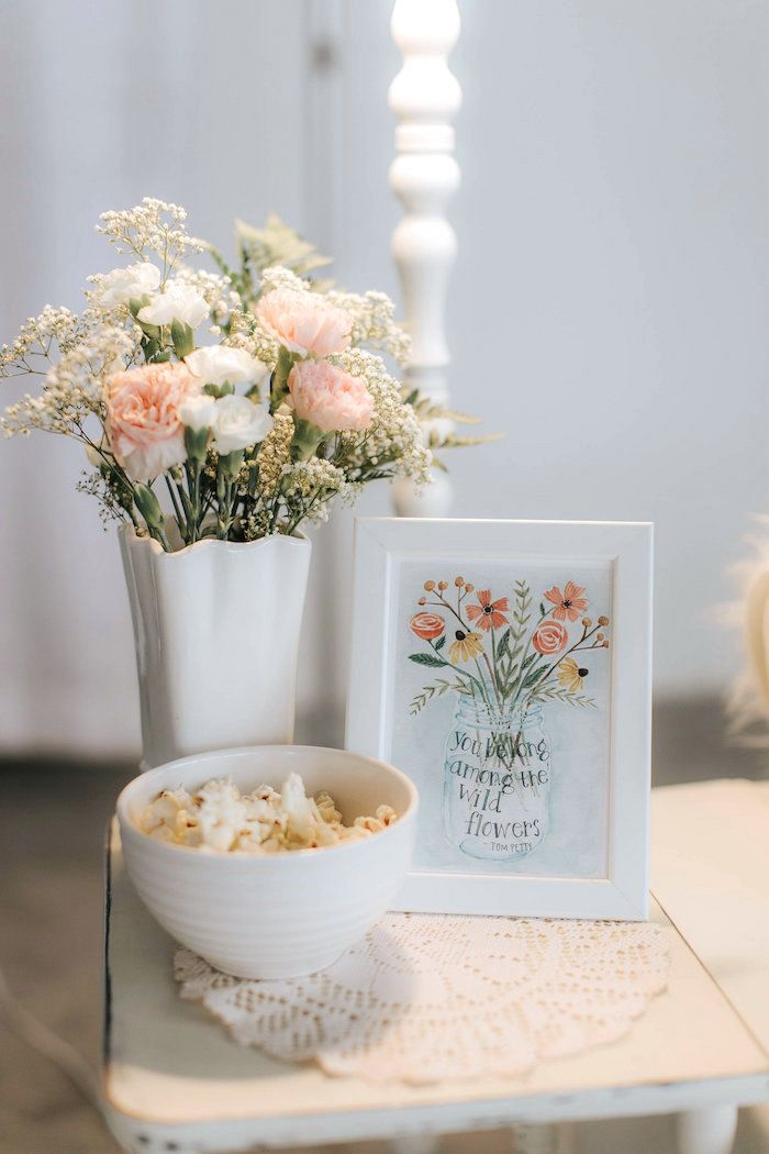 Love The Look Of Wildflowers For A Spring Baby Shower