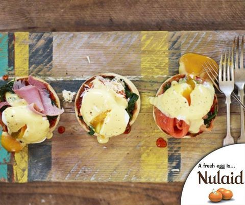 Who doesn't love eggs Benedict? Give this Jamie's eggs benedict, three ways recipe a try. For the full recipe, click here: http://ablog.link/9te. Source: Jamie Oliver Recipes. #Nulaid