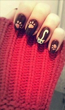 cute kitty cat: Kitty Nails, Kitty Cat, Beautiful Nails, Nails Design, Nails Ideas, Nails Art Design, Cat Nails, Black Cat, Cat Lady