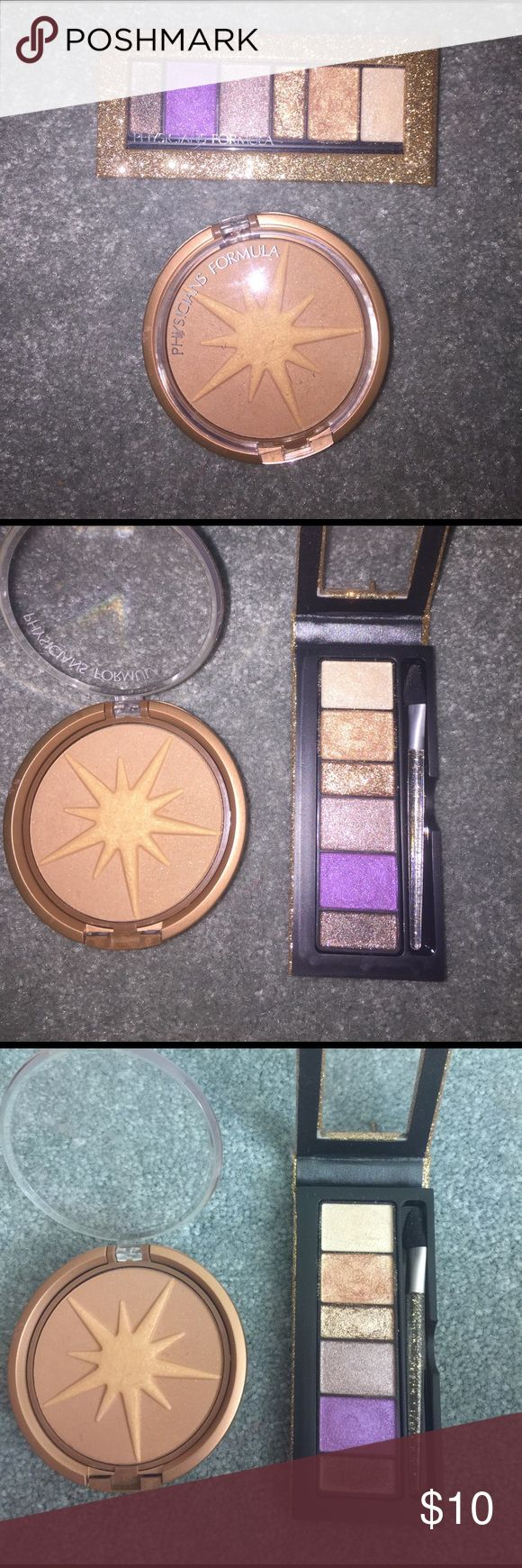 Physician's Formula eyeshadow palette and bronzer Eyeshadow palette and bronzer combo. Bronzer used a few times, one eyeshadow shade used once. Great condition! Physicians Formula Makeup Eyeshadow