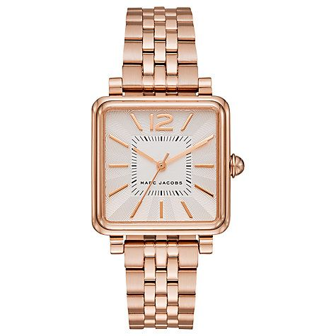Buy Marc Jacobs Women's Vic Square Bracelet Strap Watch Online at johnlewis.com