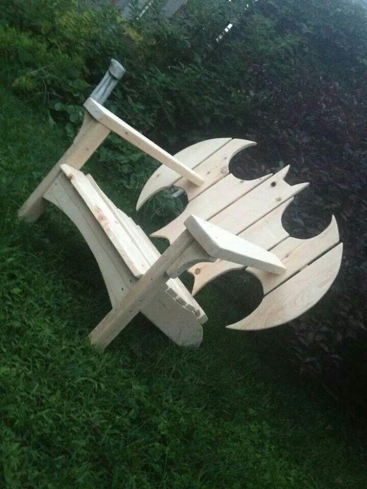 Wooden batman chair