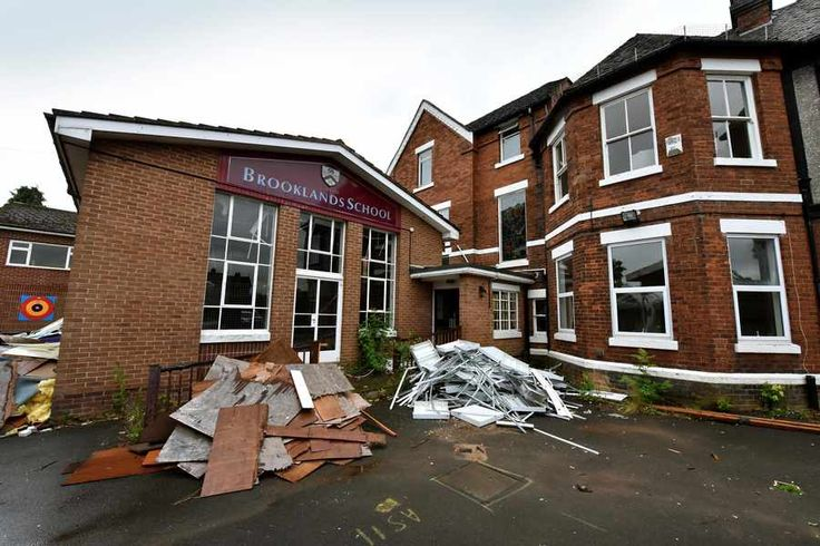The former Brooklands School, Eccleshall Road, Stafford, which has started to be demolished