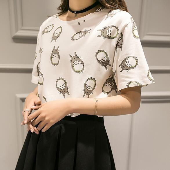 Camiseta Totoro Pattern, leve, casual e linda ^^