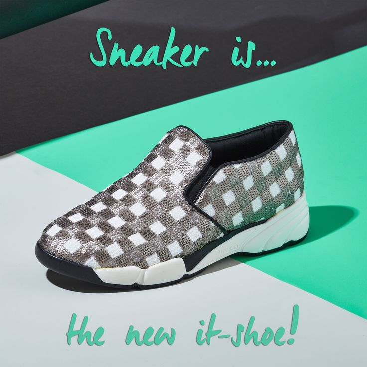 """""""Sneaker is the new It-shoe!"""" Grey #ShineBabyShine sequins sneakers #FW15"""