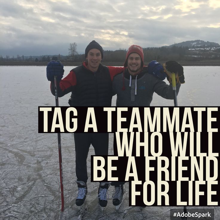 Tag a Teammate who will be a friend for life! Wizards know that the path to the NHL isn't about the NHL. It's about making a team around you!
