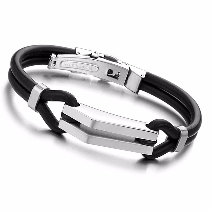 Love Infinity Stainless Steel Buckle Men Women Silicone Bracelet Cuff Bangle | Jewelry & Watches, Fashion Jewelry, Bracelets | eBay!