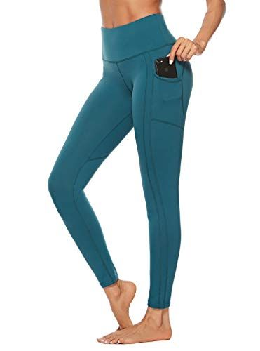 5b654c98a0e6d OVESPORT Women's Workout Leggings with Pockets High Waist Active Yoga Pants  for Running Sports Fitness Gym