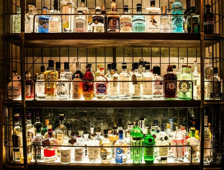 London's largest gin bar - over 400 varieties to choose from.