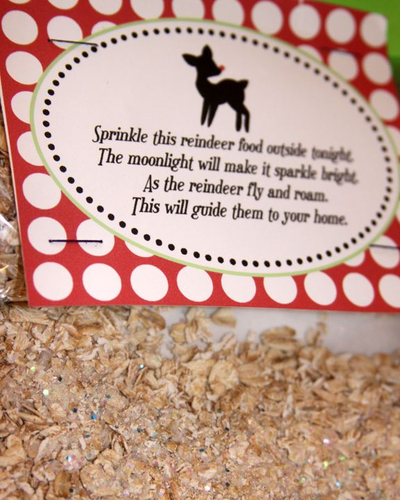 I think I'd like to do this with Regan this year! Make Reindeer Food, so they can spot your house.