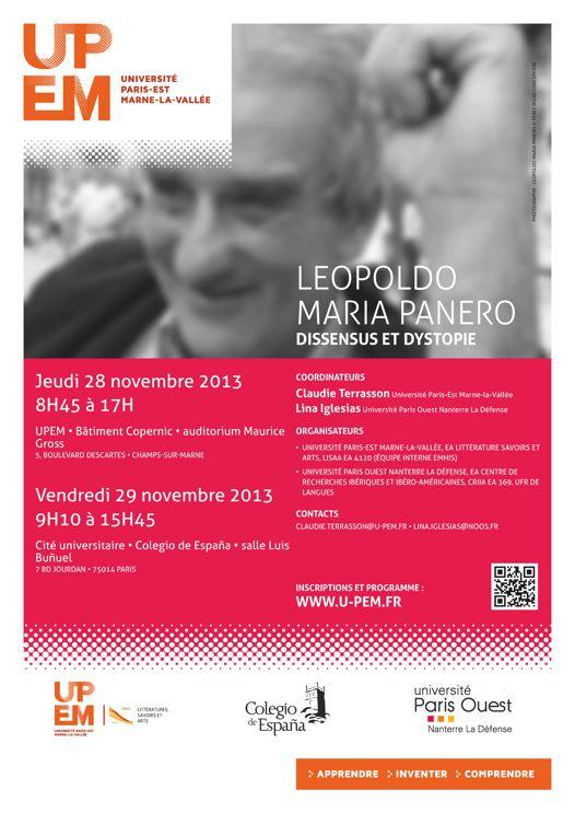 28-29/11/2013 Leopoldo Maria Panero - Dissensus et Dystopie