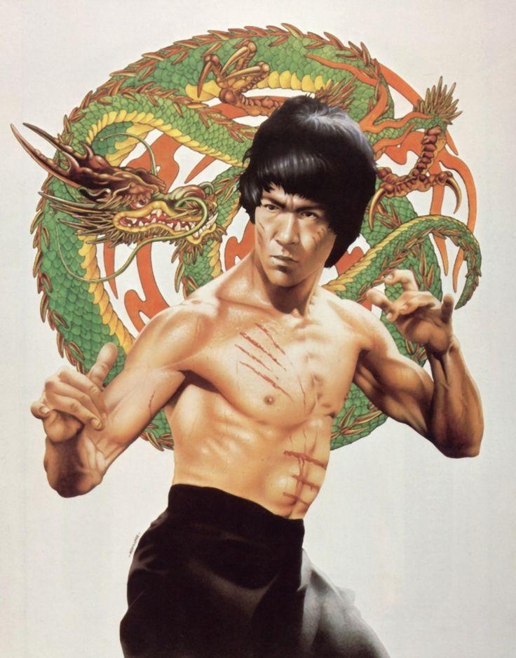 Bruce Lee poster 70's