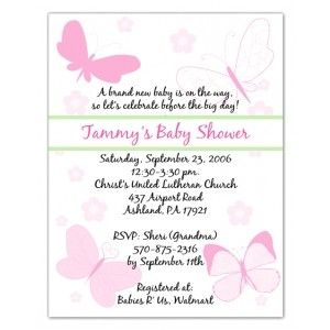 Butterfly Baby Shower Invitations | ... design fun and colorful invitations these invitations will set the