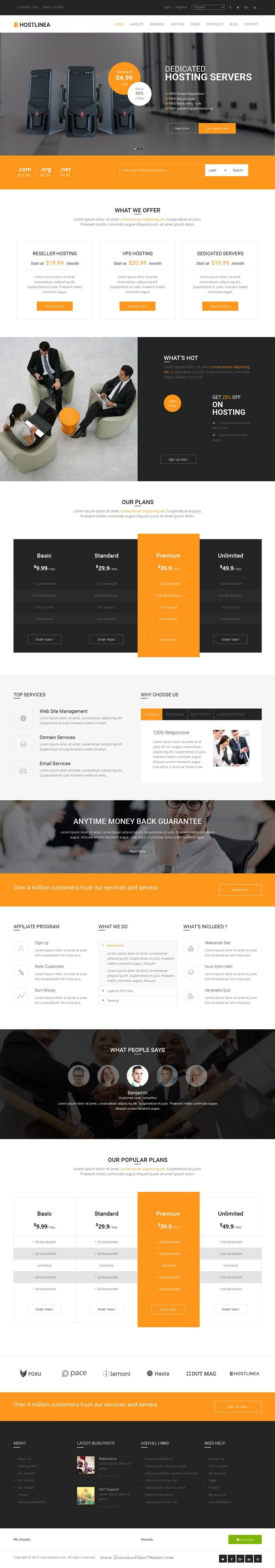 Hostlinea is simple, clean and Professional Responsive WordPress theme. It comes with 8+ Home pages, 4 different layouts and Many more inner Pages, Awesome Slideshows. #webhosting #webdesign