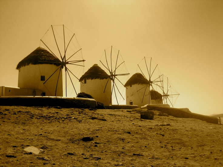 The windmills on Mykonos