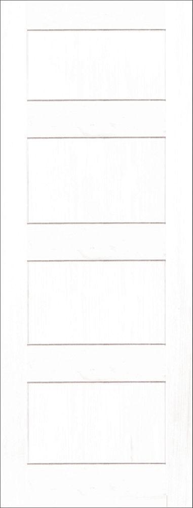 24-inch x 80-inch Primed A Zen 4 Panel Shaker Door