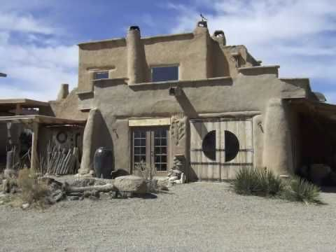 Year 2000 building authentic two story adobe home art studio stabilized adobe brick mud - How to build an adobe house ...