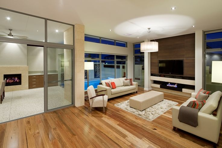 Open plan living integrating indoor with outdoors.