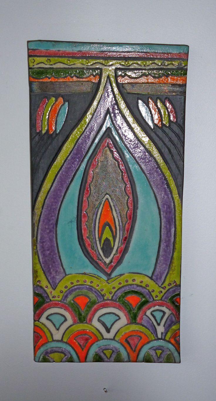 Moorish inspired wall plaque by Lynne Wilson