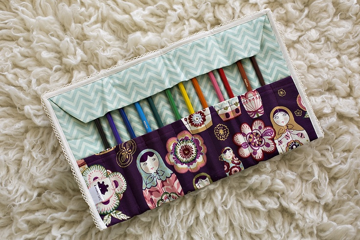 Gorgeous Babushka Pencil Roll from JuMi Creations on Facebook