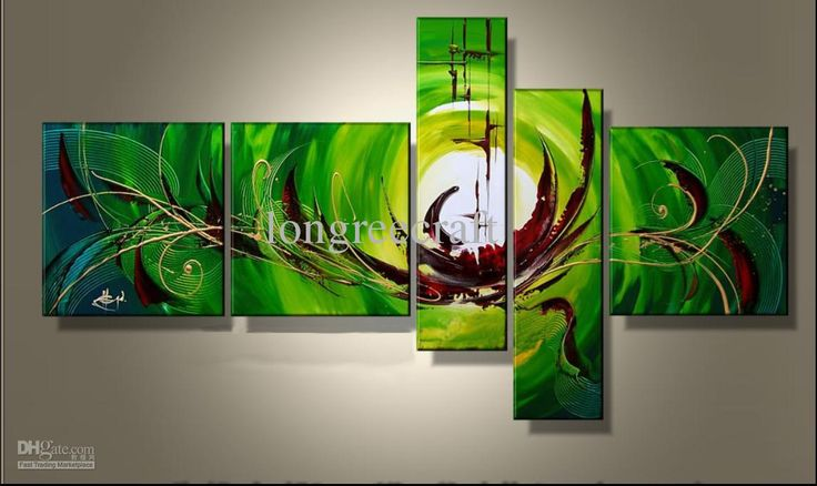 Wholesale Abstract Oil - Buy Delicate Bright Color Modern Abstract Oil Painting on Canvas - 5 Panels - Art Oil Paintings, $197.98 | DHgate.com
