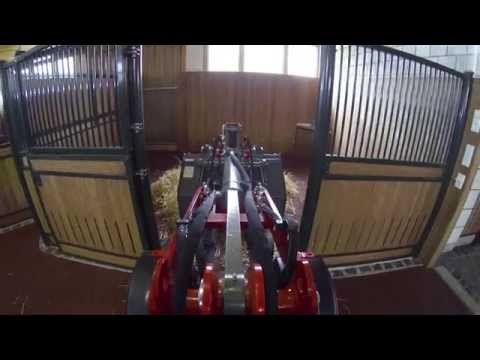 Electric wheeled loader for use on horse farms | Weidemann GmbH - YouTube