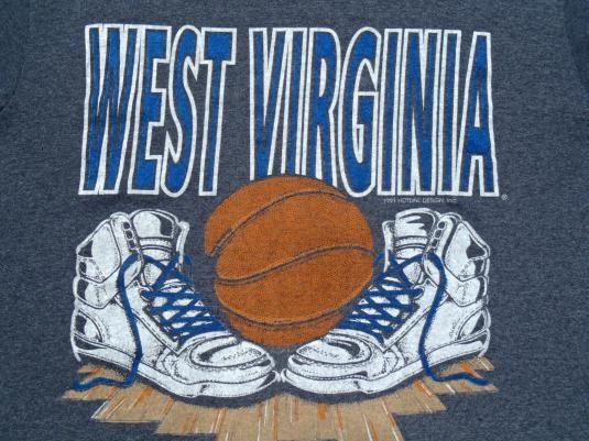 Vintage 1991 Dark Gray West Virginia Basketball T Shirt S/M