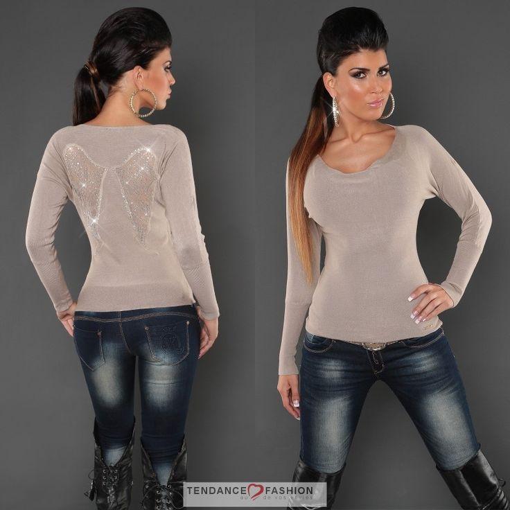 Pull femme tendance WENDY couleur beige #tendancefashion