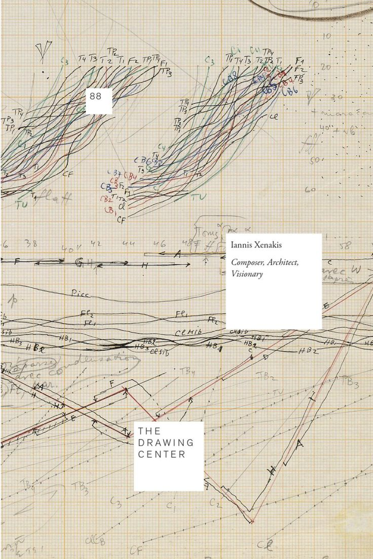Iannis Xenakis: Architect, Composer, Visionary The Drawing Center's Drawing Papers Volume 88 featuring essays by Ivan Hewett, Carey Lovelace, Sharon Kanach, and Mâkhi Xenakis.