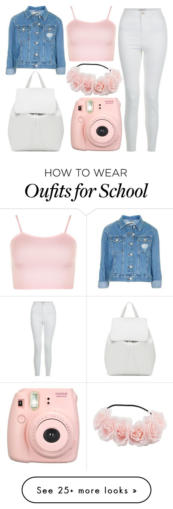 """School Day"" by susanna-trad on Polyvore featuring WearAll, Topshop, New Look, Fujifilm and Mansur Gavriel"
